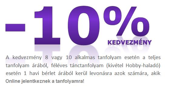 2015 Március 30-ig Online jelentkező párok -10%-ék kedvezményt kapnak a tanfolyam árából :)!